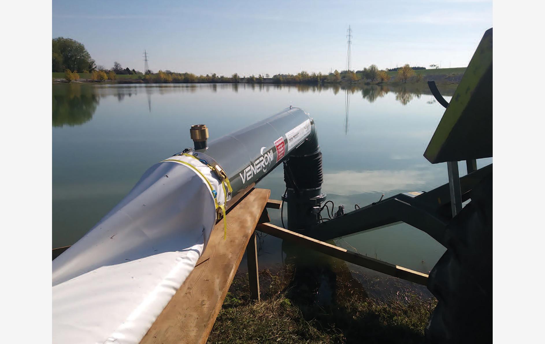 Croazia pompa mobile irrigazione Veneroni